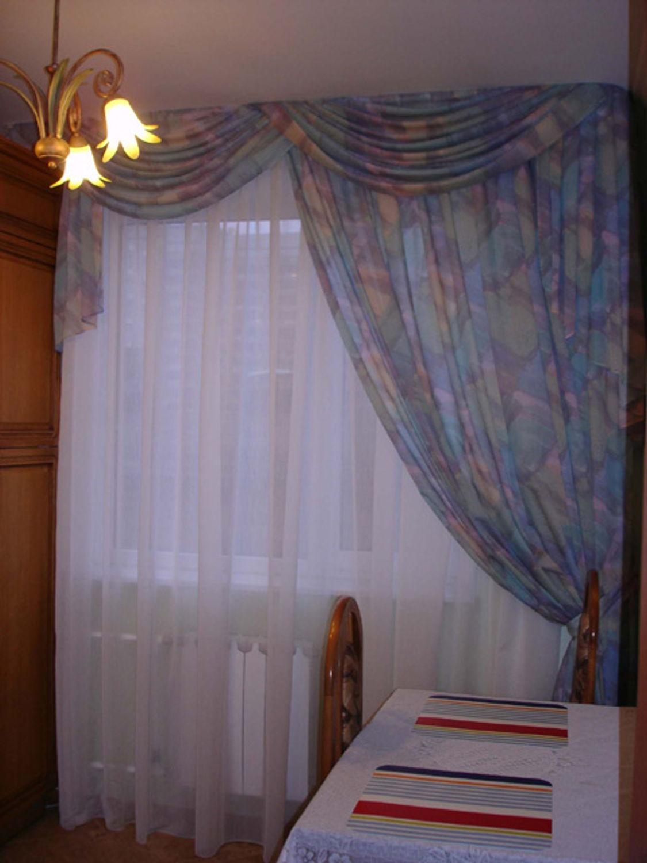 Шторы на Одну Сторону на Кухонное Окно, Красивый Дизайн 41