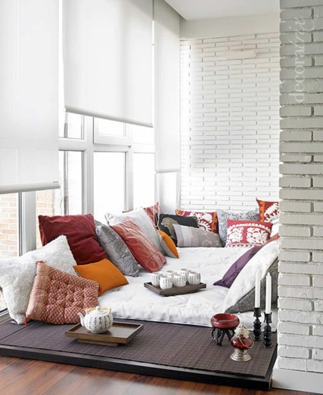 """Отличный дизайн балкона со спальным местом."""" - карточка поль."""