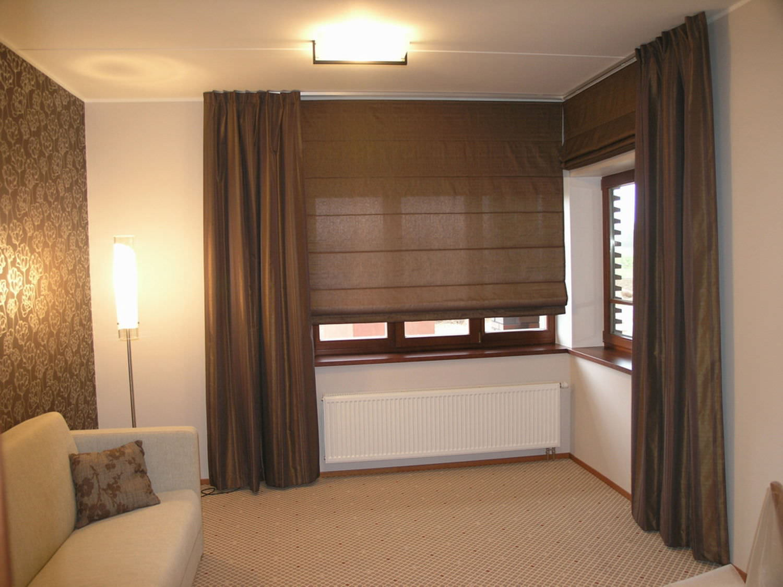 Римские шторы для гостиной фото