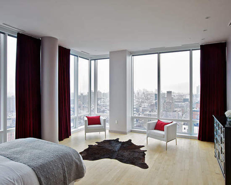 Спальня с панорамными окнами - фото роскошных интерьеров для.