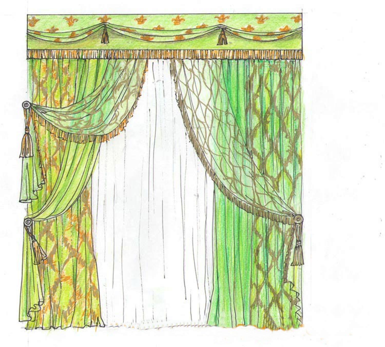 Дизайн и схемы штор фото