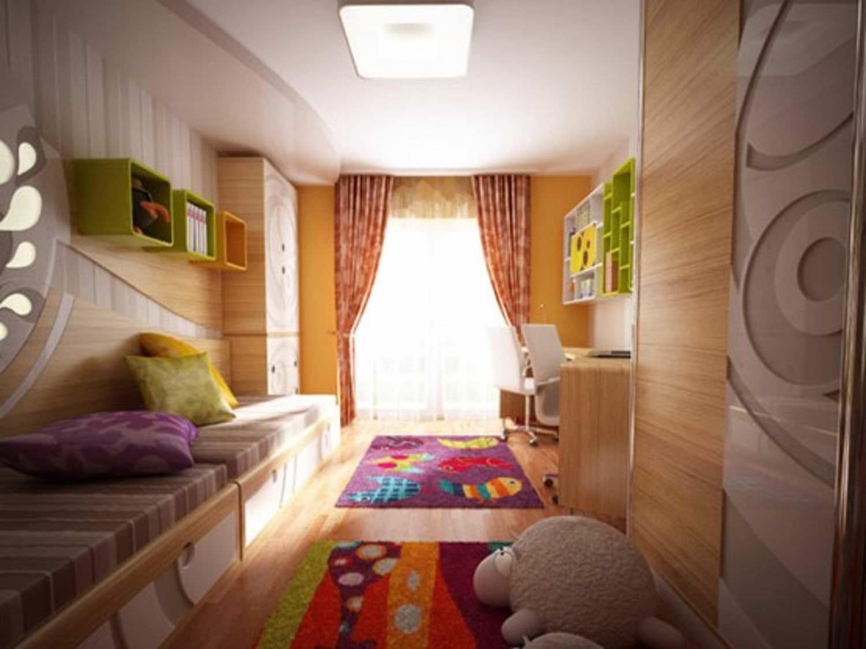 Современная детская комната для двоих детей.