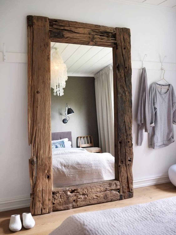 Зеркало из дерева своими руками фото