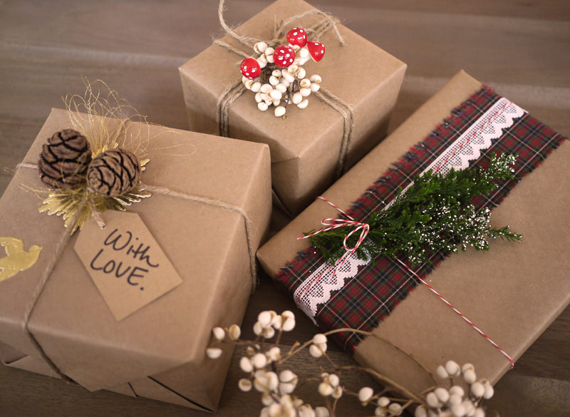 Коробки под подарки на новый год своими