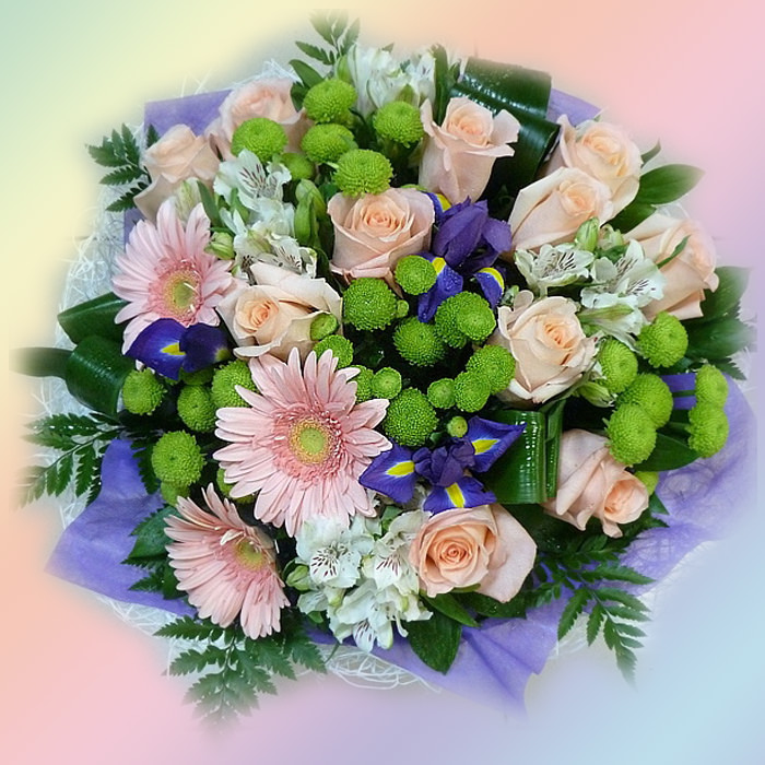 Как собрать букеты из живых цветов