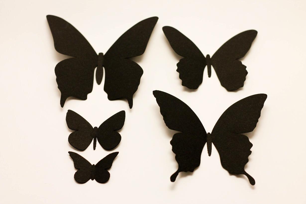 Декор стен своими руками трафарет для бабочек